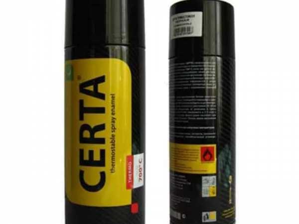 аэрозоль термостойкая CERTA чёрная 750 градусов