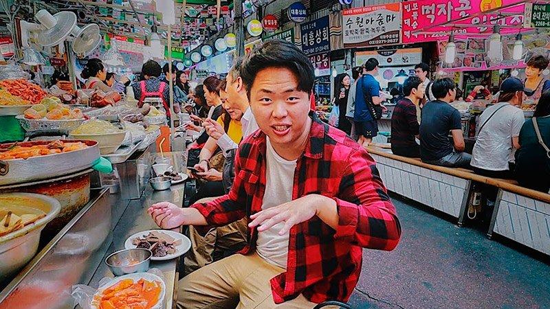 Корейский Рынок! Уличная Еда в Сеуле. Рынок Гвангянг Видео Кулинария