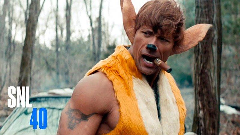 New Disney Movie - SNL Видео Кино  Disney's latest live action film stars Dwayne Johnson as Bambi, Vin...