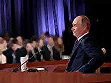 Путин отвечает на каверзные  вопросы