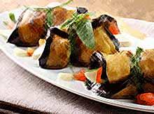Летние рецепты: курица с баклажанами