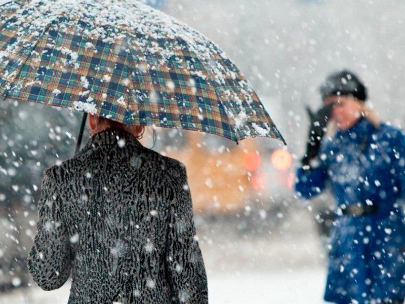 В Краснодарском крае будут идти дожди с мокрым снегом