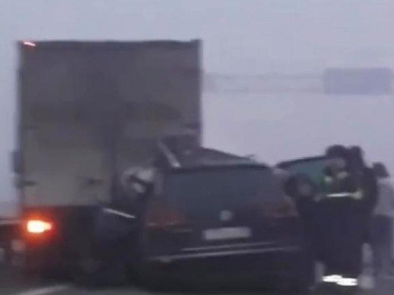 Под Краснодаром столкнулись 25 автомобилей, есть погибший
