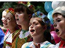 Дети с Кубани споют на закрытии Олимпиады.