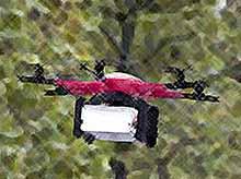 Сбербанк впервые доставил наличные с помощью дрона