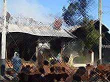 В Краснодаре в центре города сгорел спортбар. (видео)