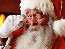 Дед Мороз путешествует с такой скоростью, что его не видно