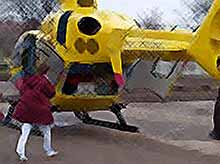 На Кубани  начал работу вертолет скорой помощи (видео)