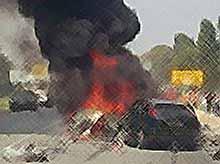 На Кубани в ДТП столкнулись пять автомобилей,есть жертвы (видео)