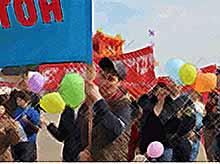 Как в Тимашевске  отмечали Первомайские праздники.
