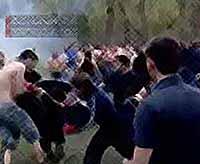 Массовая драка футбольных фанатов произошла в Краснодарском крае (видео)