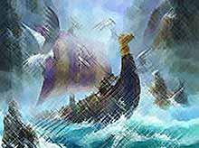 Каким образом древние  викинги ориентировались в море?