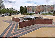 В Тимашевске завершаются работы вокруг фонтана «Звезда».