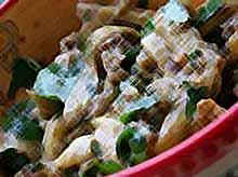 Салат из баклажан с петрушкой.