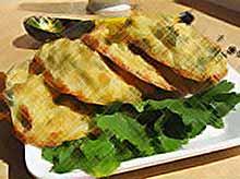 Капустные оладьи с петрушкой и сыром.