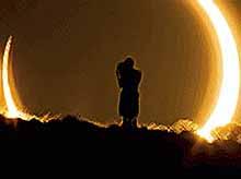 Медики: селфи с Солнцем во время затмения опасно