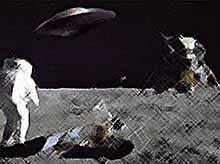На  темной стороне Луны засняли НЛО (видео)