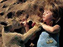Трогательные истории общения детей и животных (фото)