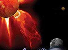Ученые NASA засняли мощную вспышку на солнце (видео)