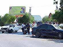 На перекрестке 50 лет Октября-Ковалева вторая авария за месяц!