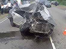 В Тимашевском районе водитель иномарки погиб, врезавшись в грузовик