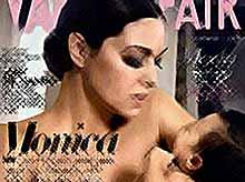 Моника Беллучи  с маленькой дочерью на обложке ноябрьского номера итальянской версии журнала Vanity Fair