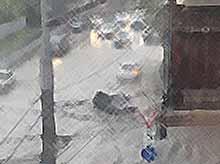 Сильный ливень в Краснодаре парализовал город