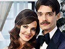 Звездная пара Елизавета Боярская и Максим Матвеев снялись в новогодней фотосессии