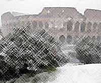 В Риме Колизей рушится из-за сильных морозов (видео)