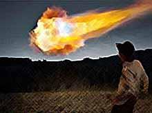 В Аргентине упал таинственный огненный шар (видео)