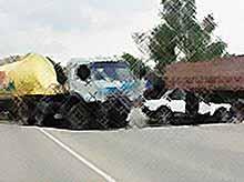 Дорожно-транспортное происшествий на трассе Тимашевск - Приморско-Ахтарск