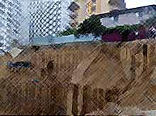 В Адлере часть фундамента частного дома обрушилась в котлован строящегося ЖК