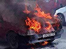 В Краснодаре автомобиль сгорел в пробке