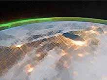 Космонавты на МКС сняли уникальное видео северного сияния (видео)