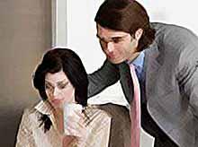 Женщины в офисе - причина мужского безделья