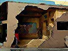 Рисунки на домах(фото)