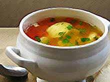 Суп с картофельными клёцками