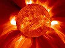 Неожиданный выброс плазмы Солнца