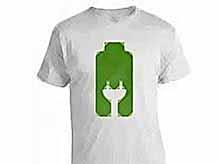 Обычную футболку превратили в аккумулятор