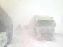Снегопад парализовал жизнь в кубанском городе