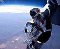 Скайдайвер совершил прыжок из космоса (видео)