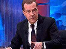 Глава российского правительства подводит  итоги года (видео)