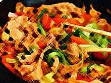 Телятина с овощами в китайском стиле