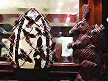 Кондитеры к Пасхе приготовили 45-килограмовое шоколадное яйцо