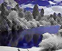 Другая Земля : мир в инфракрасном спектре (фото)