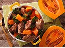 Осеннее жаркое из говядины с тыквой