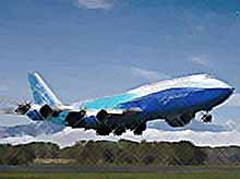 Самый длинный самолет в мире - Boeing 747-8
