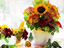 Осенний декор стола цветами