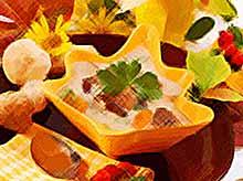 Вкусный сливочный суп с белыми грибами