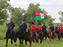 В Тимашевский район прибыл конный переход казаков Юга России